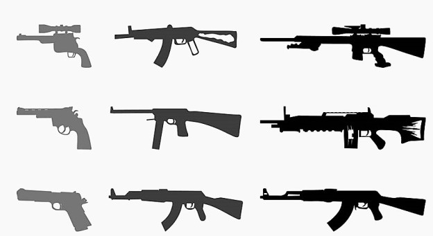 Weapons-Silhouettes-Set