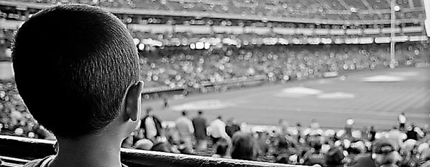 boy at ballgame