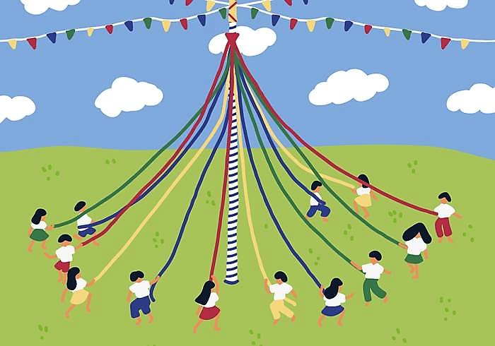maypole-on-the-country-vector